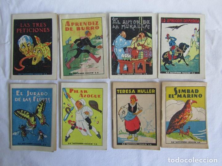 Tebeos: 42 cuentos de Saturnino Calleja 10 x 7 centímetros - Foto 8 - 129089123