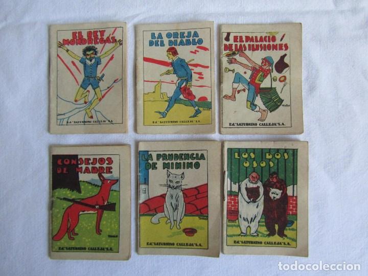 Tebeos: 23 cuentos de Saturnino Calleja, 7 x 5 centímetros - Foto 2 - 129092043