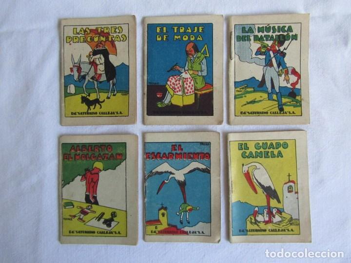 Tebeos: 23 cuentos de Saturnino Calleja, 7 x 5 centímetros - Foto 4 - 129092043