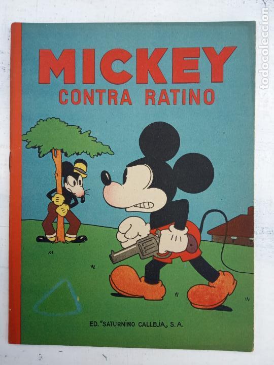 MICKEY CONTRA RATINO ORIGINAL Nº 5 MAGNÍFICO ESTADO SATURNINO CALLEJA AÑOS 30 (Tebeos y Comics - Calleja)