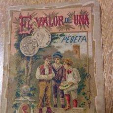 Tebeos: EL VALOR DE UNA PESETA. Lote 143638898