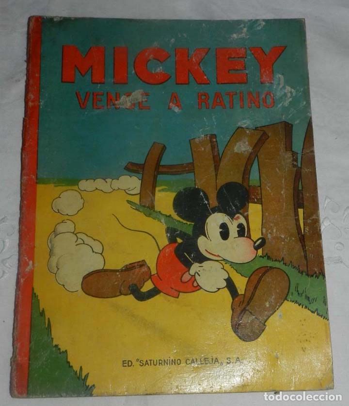 ANTIGUO CUENTO DE SATURNINO CALLEJA S.A. - MICKEY VENCE A RATINO - ILUSTRACIONES DE WALT DISNEY -E (Tebeos y Comics - Calleja)