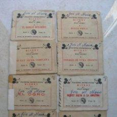 Tebeos: JUGUETES INSTRUCTIVOS MICKEY (WALT DISNEY) - 8 EJEMPLARES - SATURNINO CALLEJA 1942.. Lote 168610232