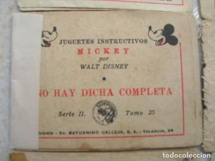 Tebeos: Juguetes instructivos Mickey (Walt Disney) - 8 ejemplares - Saturnino Calleja 1942. - Foto 4 - 168610232