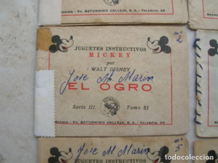 Tebeos: Juguetes instructivos Mickey (Walt Disney) - 8 ejemplares - Saturnino Calleja 1942. - Foto 6 - 168610232