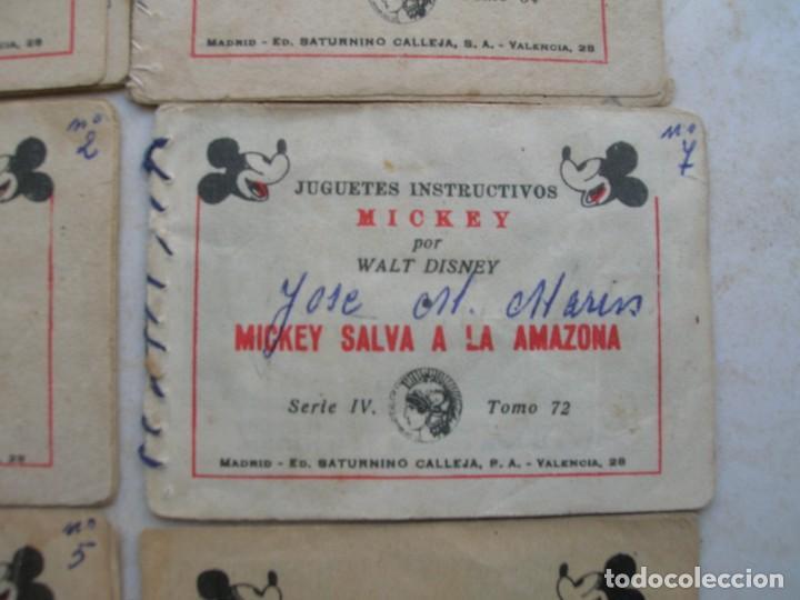 Tebeos: Juguetes instructivos Mickey (Walt Disney) - 8 ejemplares - Saturnino Calleja 1942. - Foto 7 - 168610232