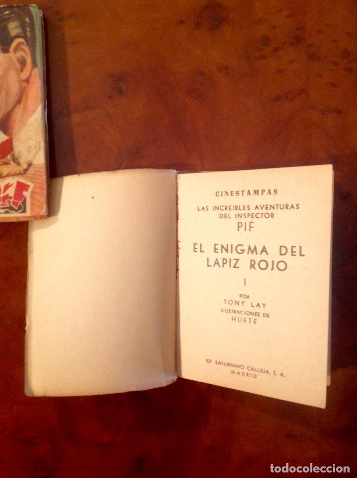 Tebeos: LasIncreibles Aventuras Inspector Pif-Tony Lay-El Lápiz Rojo-Completa 3 Tomos-No Acabada - Foto 3 - 176288277