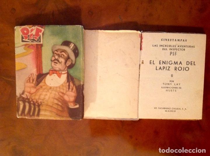Tebeos: LasIncreibles Aventuras Inspector Pif-Tony Lay-El Lápiz Rojo-Completa 3 Tomos-No Acabada - Foto 5 - 176288277