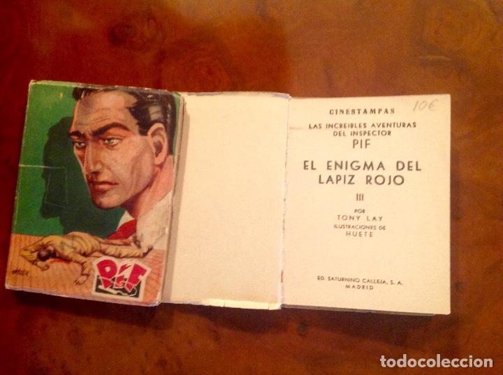 Tebeos: LasIncreibles Aventuras Inspector Pif-Tony Lay-El Lápiz Rojo-Completa 3 Tomos-No Acabada - Foto 7 - 176288277