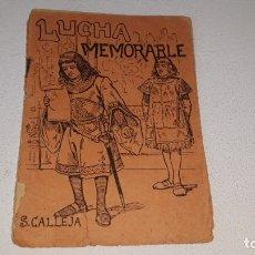 Tebeos: SATURNINO CALLEJA - BIBLIOTECA DE CUENTOS SERIE X TOMO 200 - LUCHA MEMORABLE -. Lote 179389667