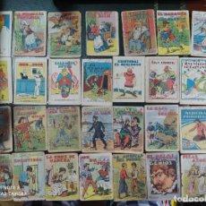 Tebeos: LOTE 76 CUENTOS ORIGINALES LIBRITOS LIBROS DIFERENTES JUGUETE EDUCATIVO SATURNINO CALLEJA PUBLICIDAD. Lote 201333778