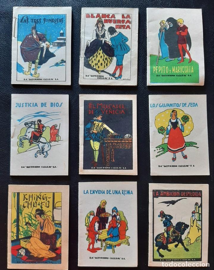 LOTE 9 CUENTOS SATURNINO CALLEJA - MEDIDAS 7 X 5 CM (Tebeos y Comics - Calleja)