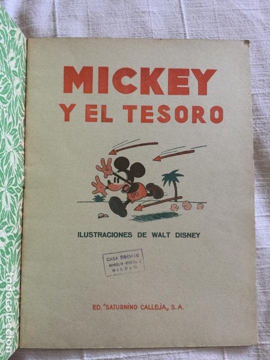 Tebeos: N° 13 MICKEY Y EL TESORO - ED SATURNINO CALLEJA - 1936 Ilustraciones de Walt Disney - Buen estado - Foto 2 - 217514960