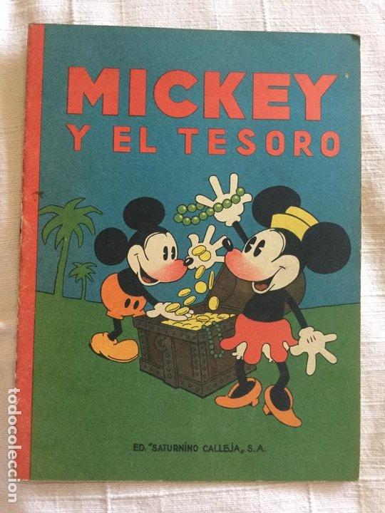N° 13 MICKEY Y EL TESORO - ED SATURNINO CALLEJA - 1936 ILUSTRACIONES DE WALT DISNEY - BUEN ESTADO (Tebeos y Comics - Calleja)