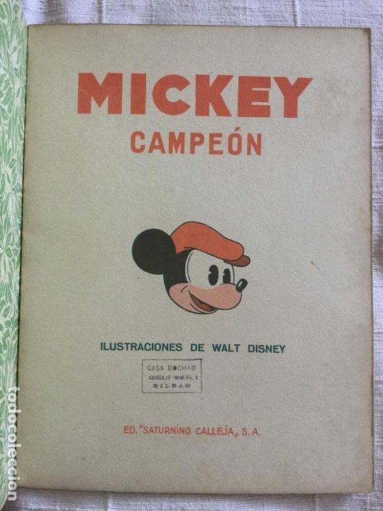 Tebeos: N° 8 MICKEY CAMPEON - ED SATURNINO CALLEJA - 1935 Ilustraciones de Walt Disney - Buen estado - Foto 2 - 217515418