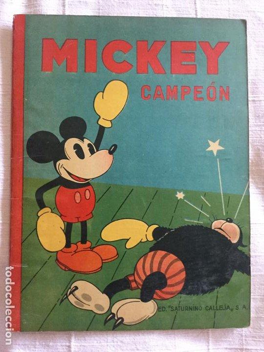 N° 8 MICKEY CAMPEON - ED SATURNINO CALLEJA - 1935 ILUSTRACIONES DE WALT DISNEY - BUEN ESTADO (Tebeos y Comics - Calleja)