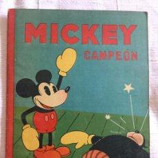 Tebeos: N° 8 MICKEY CAMPEON - ED SATURNINO CALLEJA - 1935 ILUSTRACIONES DE WALT DISNEY - BUEN ESTADO. Lote 217515418