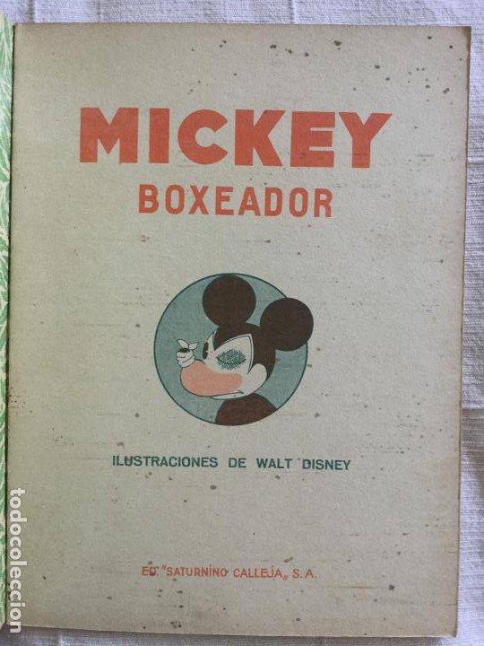 Tebeos: N° 7 MICKEY BOXEADOR - ED SATURNINO CALLEJA - 1935 Ilustraciones de Walt Disney - Buen estado - Foto 2 - 217515975