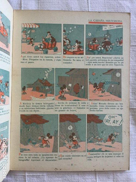 Tebeos: N° 7 MICKEY BOXEADOR - ED SATURNINO CALLEJA - 1935 Ilustraciones de Walt Disney - Buen estado - Foto 3 - 217515975