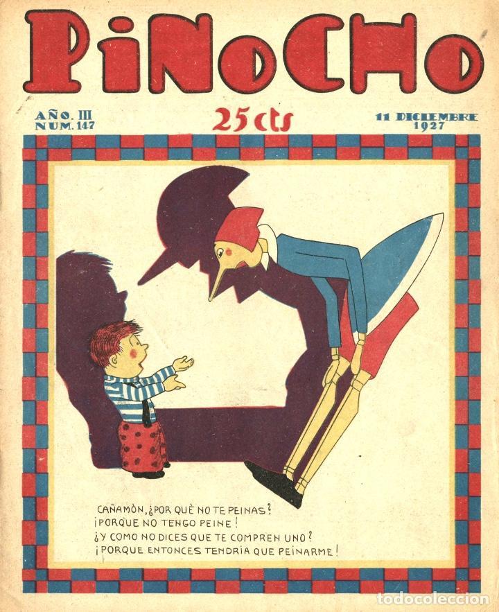 PINOCHO-147 (CALLEJA, 11-12-1927) CON K-HITO, EL GATO FÉLIX , LA TORMENTA Y EL CICLÓN Y POLITO (Tebeos y Comics - Calleja)