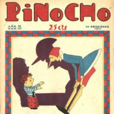 Tebeos: PINOCHO-147 (CALLEJA, 11-12-1927) CON K-HITO, EL GATO FÉLIX , LA TORMENTA Y EL CICLÓN Y POLITO. Lote 221503218