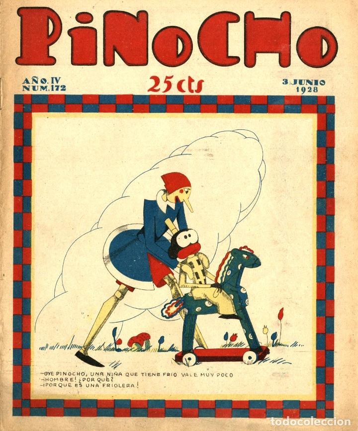 PINOCHO-172 (CALLEJA, 3-6-1928) CON K-HITO, LA TORMENTA Y EL CICLÓN, DON PANFRITO Y EL GATO FELIX (Tebeos y Comics - Calleja)