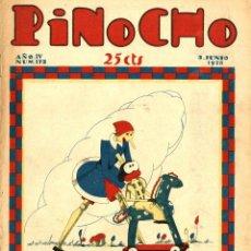 Tebeos: PINOCHO-172 (CALLEJA, 3-6-1928) CON K-HITO, LA TORMENTA Y EL CICLÓN, DON PANFRITO Y EL GATO FELIX. Lote 221503446