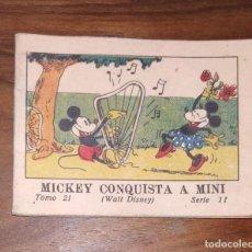 Tebeos: JUGUETES INSTRUCTIVOS MICKEY POR WALT DISNEY, MICKEY CONQUISTA A MINI, SERIE II TOMO 21. AÑO 1942.. Lote 222018622