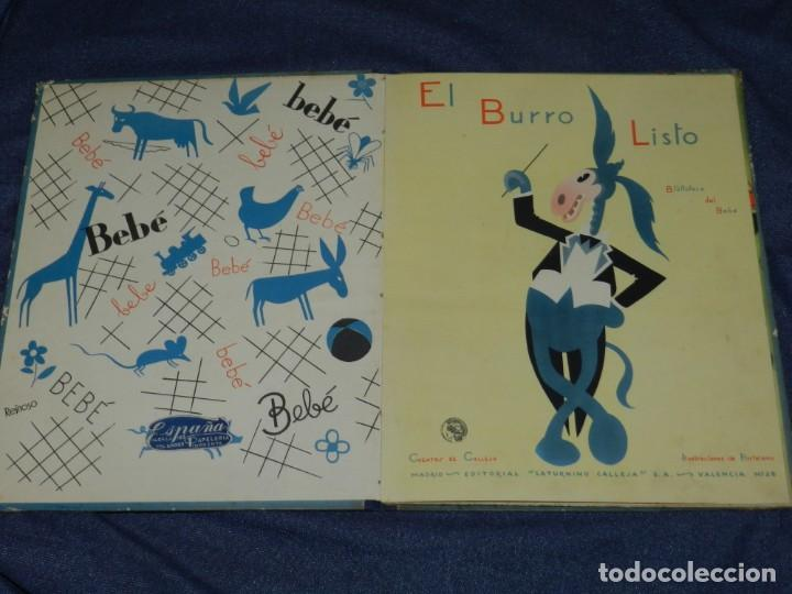 Tebeos: EL BURRO LISTO , BIBLIOTECA DEL BEBE , EDT. SATURNINO CALLEJA , MADRID , ILUSTRADO POR HORTELANO - Foto 2 - 228008720
