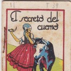 Tebeos: CUENTOS DE CALLEJA -SERIE II TOMO 39 EL SECRETO DEL CUERNO - SATURNINO CALLEJA S.A.. MED.7X 5 CM.. Lote 244735070