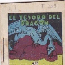 Tebeos: CUENTOS DECALLEJA -SERIE XI TOMO 209 EL TESORO DEL DRAGON- SATURNINO CALLEJAS .AMED. 7X 5 CM.. Lote 244736120