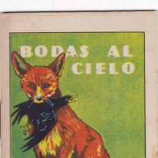 Tebeos: CUENTOS DE CALLEJA -SERIE XII TOMO 234 BODAS AL CIELO -SATURNINO. CALLEJAS MED. 10 X 7 CM.. Lote 231805525