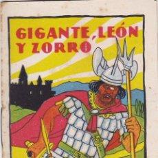 Tebeos: CUENTOS DE CALLEJA -SERIE XII TOMO 240 GIGANTE,LEONY ZORRO -SATURNINO. CALLEJAS MED.10 X 7 CM.. Lote 231849575