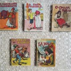Livros de Banda Desenhada: 5 ANTIGUOS CUENTOS DE SATURNINO CALLEJA - 7 CM X 5 CM - PJRB. Lote 257525320