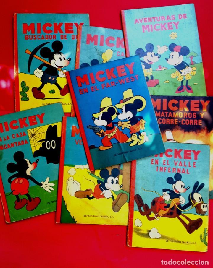 MICKEY - DISNEY - ED. CALLEJA - LOTE DE 8 NÚMEROS - AÑOS 30 (Tebeos y Comics - Calleja)