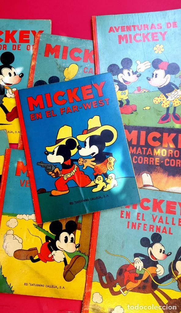 Tebeos: MICKEY - DISNEY - ED. CALLEJA - LOTE DE 8 NÚMEROS - AÑOS 30 - Foto 3 - 261240940