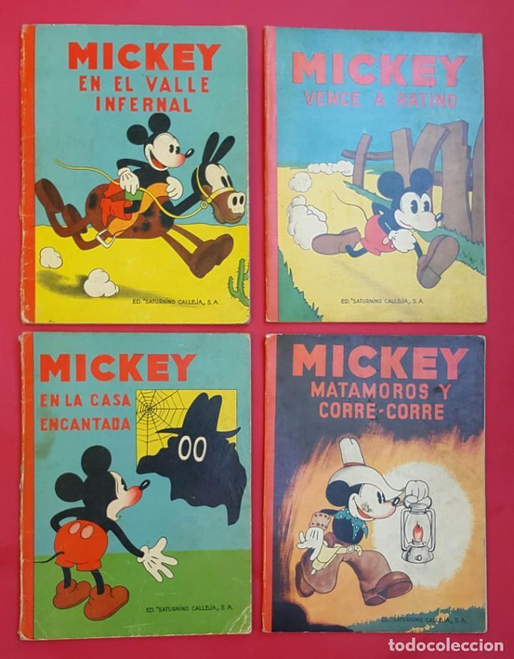 Tebeos: MICKEY - DISNEY - ED. CALLEJA - LOTE DE 8 NÚMEROS - AÑOS 30 - Foto 6 - 261240940