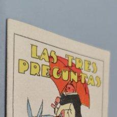 Tebeos: CUENTOS DE CALLEJA. LAS TRES PREGUNTAS. SERIE I. TOMO 5. MEDIDAS 7 X 10CM.. Lote 285372458