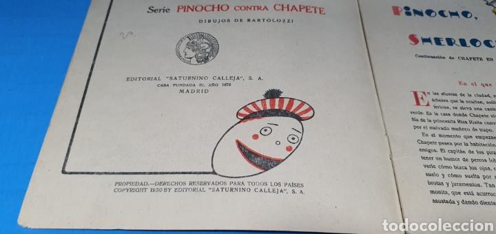 Tebeos: PINOCHO SHERLOCK HOLMES , CALLEJA 1930 - Foto 5 - 287915013