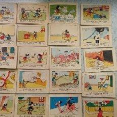 Tebeos: MINI CUENTOS ANTIGUOS DE MICKEY MOUSE SERIE I 20 UDS. WALT DISNEY DE 1942 EDIT. SATURNINO CALLEJA. Lote 292302983