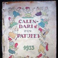 Tebeos: CALENDARI D'EN PATUFET - 1935. Lote 13724222