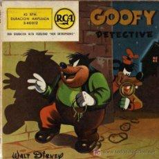 Tebeos: GOOFY DETECTIVE (WALT DISNEY) DISCO COMIC DE RCA . Lote 4374848
