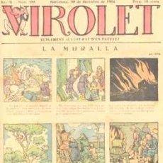 Tebeos: VIROLET Nº 155. SUPLEMENT D'EN PATUFET. 1924.. Lote 5228640