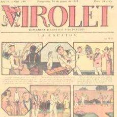 Tebeos: VIROLET Nº 160. SUPLEMENT D'EN PATUFET. 1924.. Lote 5228643
