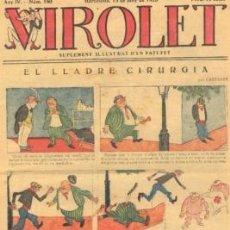 Tebeos: VIROLET Nº 180. SUPLEMENT D'EN PATUFET. 1925.. Lote 5236581