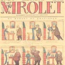 Tebeos: VIROLET Nº 181. SUPLEMENT D'EN PATUFET. 1925.. Lote 5236589