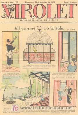 VIROLET Nº 193. SUPLEMENT D'EN PATUFET. 1925. (Tebeos y Comics - Tebeos Clásicos (Hasta 1.939))