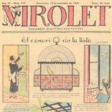 Tebeos: VIROLET Nº 193. SUPLEMENT D'EN PATUFET. 1925.. Lote 5236599
