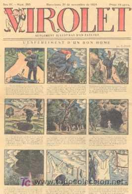 VIROLET Nº 203. SUPLEMENT D'EN PATUFET. 1925. (Tebeos y Comics - Tebeos Clásicos (Hasta 1.939))