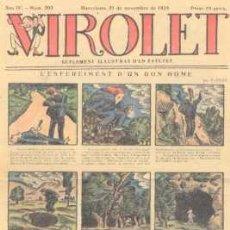 Tebeos: VIROLET Nº 203. SUPLEMENT D'EN PATUFET. 1925.. Lote 5236620